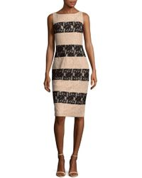 JS Collections - Two-tone Stripe Dress - Lyst