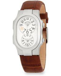 Philip Stein - Signature Leather Strap Watch - Lyst