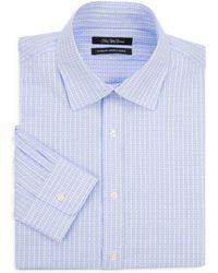 Saks Fifth Avenue - Geometric Cotton Dress Shirt - Lyst