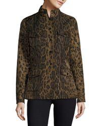 Jane Post - Leopard Print Safari Jacke - Lyst
