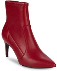 """Charles David - Pride Leather Point Toe Booties/3"""" - Lyst"""