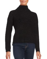 French Connection - Long Sleeve Wool-blend Sweater - Lyst