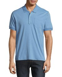 Saks Fifth Avenue - Slim Ice Cotton Polo Shirt - Lyst