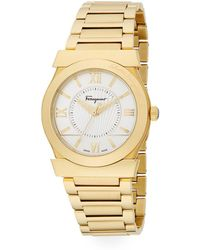 Ferragamo - Vega Goldtone Stainless Steel Bracelet Watch - Lyst