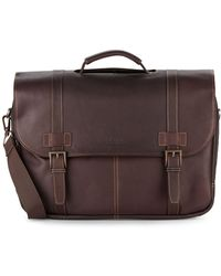 Kenneth Cole Reaction - Leather Flap Briefcase - Lyst