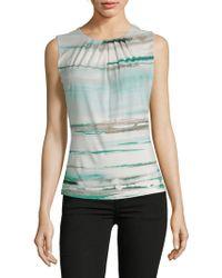 493273ee648cc Lyst - Calvin Klein Sequin-print Drapeneck Top in Pink