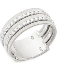Marco Bicego - Diamond And 18k White Gold Ring - Lyst