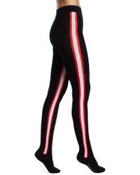 Calvin Klein - Wool Intarsia Stripe Tights - Lyst
