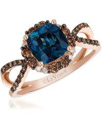 Le Vian - Chocolatier Deep Sea Blue Topaz & Chocolate Ring - Lyst