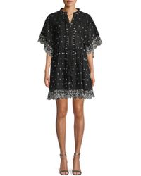 Love Sam - Ruffle-trimmed Scalloped Cotton Dress - Lyst