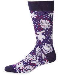 Bugatchi - Patterned Crew Socks - Lyst