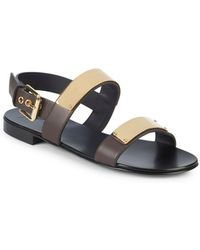 95d8e48c1fa633 Lyst - Giuseppe Zanotti Sandals Lindos Leather Brown Fringe in Brown ...