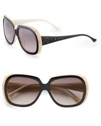 Judith Leiber - 58mm Rectangular Sunglasses - Lyst