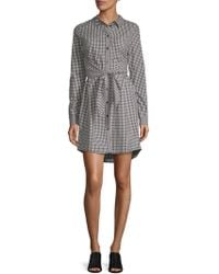Sanctuary - Gingham Tie-front Shirt Dress - Lyst