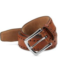 Cole Haan - Perforated Leather Belt - Lyst