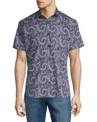 Jared Lang - Printed Short-sleeve Button-down Shirt - Lyst
