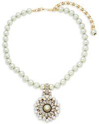 Heidi Daus - Faux-pearl Pinwheel Necklace - Lyst