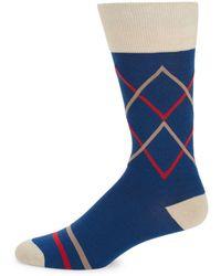 Bruno Magli - Diamond Geometric Socks - Lyst