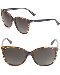 Gucci - 56mm Wayfarer Framed Sunglasses - Lyst
