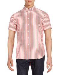 Haspel - Rampart Striped Cotton Sportshirt - Lyst