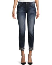 Miss Me - Jeweled Bottom Ankle Skinny Jeans - Lyst