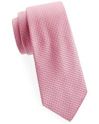 Saks Fifth Avenue - Diagonal Neat Silk Tie - Lyst
