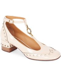 Chloé - Perry Patent Leather Mary Jane Pumps - Lyst