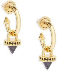 Eddie Borgo - Yellow Gold Push Pin Earrings - Lyst