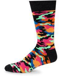 Happy Socks - Bark Camo-print Crew Socks - Lyst