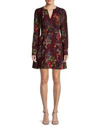 Parker - Brooke Ruffled Floral Dress - Lyst