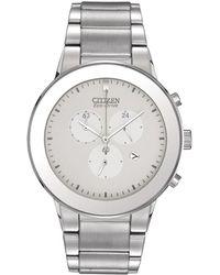 Citizen - Axiom Eco-drive Chronograph Watch - Lyst