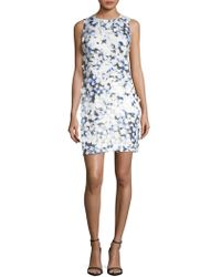 Karl Lagerfeld | Floral-appliqé Shift Dress | Lyst