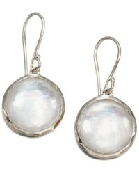 Ippolita - Wonderland Mother-of-pearl Quartz & Sterling Silver Mini Lollipop Drop Earrings - Lyst
