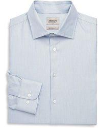 Giorgio Armani - Modern-fit Pinstriped Dress Shirt - Lyst