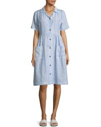 Solid & Striped - Cotton Shirt Dress - Lyst