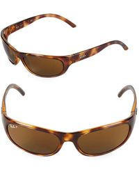 Ray-Ban - 60mm Oval Wrap Sunglasses - Lyst