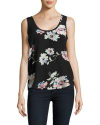 Joie - Annabeth Floral Printed Silk Tank Top - Lyst