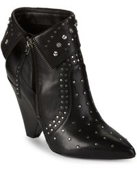Sam Edelman - Royce Studded Leather Ankle Boots - Lyst