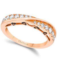 Le Vian - 14k Strawberry Gold Vanilla Diamonds & Chocolate Diamonds Chocolatier Ring - Lyst