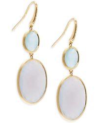 Marco Bicego - Chalcedony, Aquamarine & 18k Gold Earrings - Lyst