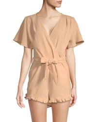 Lucca Couture - Mackenzie Flutter-sleeve Romper - Lyst