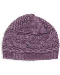 Portolano - Cable-knit Beanie - Lyst
