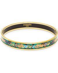 Hermès - Vintage Black Enamel Bangle Bracelet - Lyst