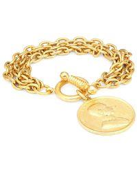 Ben-Amun - Goldtone Charm Bracelet - Lyst