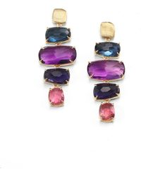Marco Bicego - Murano Semi-precious Multi-stone & 18k Yellow Gold Drop Earrings - Lyst