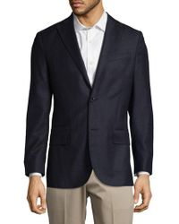 J.Lindeberg - Wool Peak Lapel Coat - Lyst