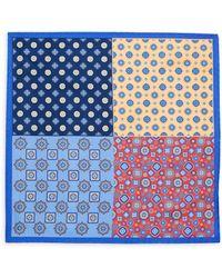 Saks Fifth Avenue - Printed Silk Pocket Square - Lyst
