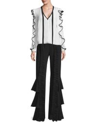 Alexis - Carine Ruffle Trousers - Lyst