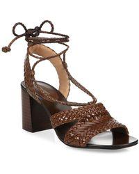 Michael Kors - Lawson Leather Lace-up Sandals - Lyst