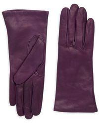Portolano - Smooth Leather Gloves - Lyst